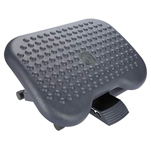 Adjustable Under Desk Footrest, Ergonomic Foot Rest Comfortable Portable Footrest with Non-Skid Massage Surface Texture for Home Office 17.99 x 13.94 x 4.33 inch