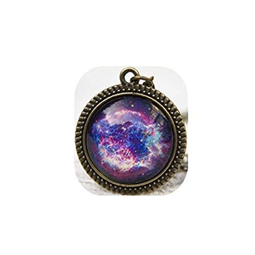 Youkeshan HomeXBest - Collar de galaxia, color morado, espacio, nebulosa, sistema solar, morado