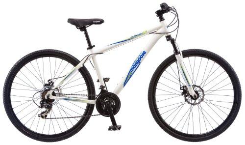 """Mongoose Men's Banish 2.0 Hybrid Bike, White, 29"""" Wheel &..."""