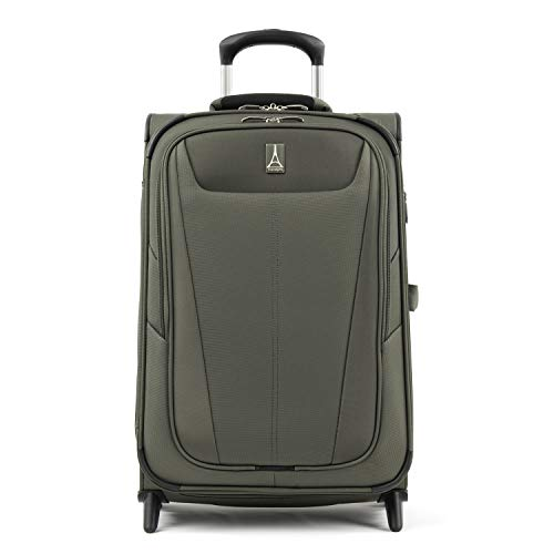 Travelpro Maxlite 5-Softside Lightweight Expandable Upright Luggage, Slate Green, Carry-On 22-Inch