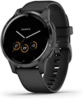Garmin vivoactive 4, GPS Smartwatch, Features Music, Body Energy Monitoring, Animated Workouts, Pulse Ox Sensors and...