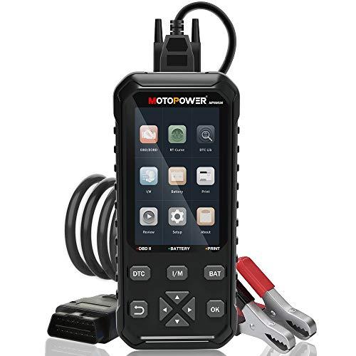 MOTOPOWER MP69036 Car OBD2 Code Reader Scanner Engine Code Reader 2 in 1 OBD2 Diagnostic Tool and 12V Battery Load Tester