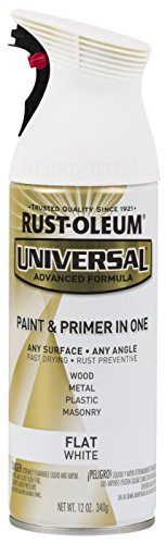 Rust-Oleum Universal Enamel Spray Paint, 12 oz, Flat White