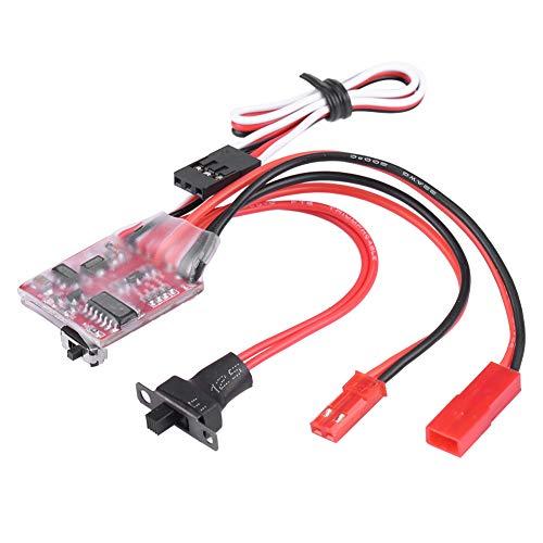 Demeras Controlador de Velocidad electrónico Cepillado Interruptor de cabrestante ESC 30A Controlador de Velocidad del Motor Impermeable para Coche de Oruga RC a Escala 1/10