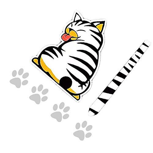 Fangfeen Bewegliche Katze Muster Auto Heckscheibenwischer Muster Auto Tattoo Sticker Self Adhesive Tier Abziehbild-Kunst-Tattoo Dekorative Supplies