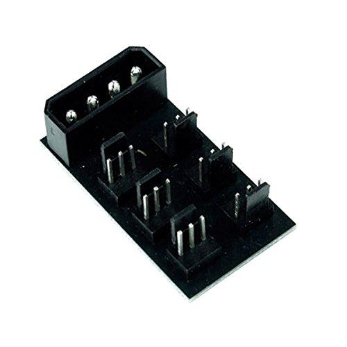 Phobya 81097 Computer Kühlkomponente - Computer Kühlkomponenten (3-polig, Schwarz, Kunststoff, 25 mm, 45 mm, 18 mm)