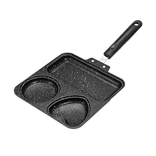 3-Formen-Bratpfanne mit flachem Boden , 3-in-1-Kompakt-Antihaft-Kompakt-Antihaft-Bratpfanne , Geeignet für Steaks, Omeletts, Nudeln