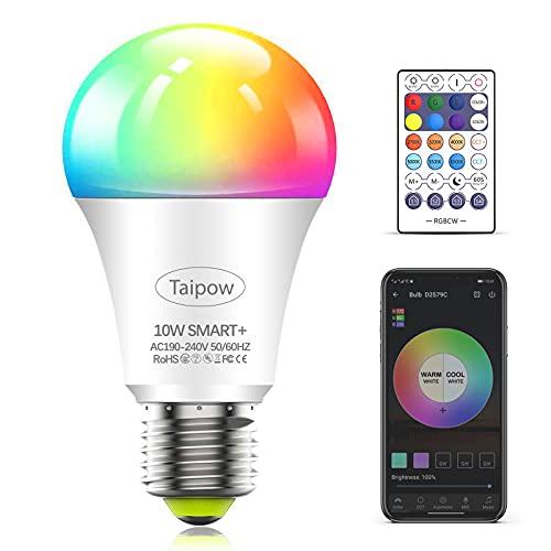 Taipow Led Ampoule Connectée Alexa, E27 10W Ampoule Wifi...
