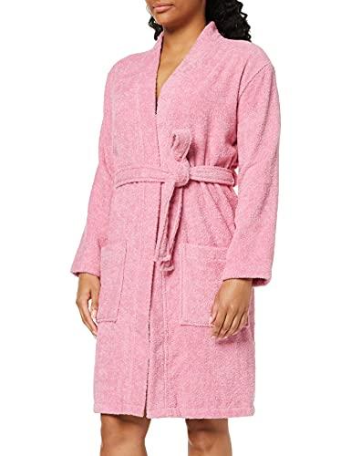 Marque Amazon - Iris & Lilly Robe de Chambre Courte en Tissu Éponge Femme, Rose (Pink), S, Label: S
