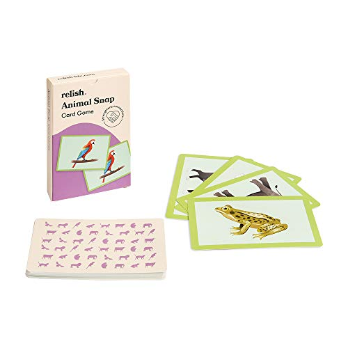 Relish Animal Snap - Juegos de tarjetas de imagen grandes - Productos de Alzheimer y actividades de demencia/juguetes para personas mayores