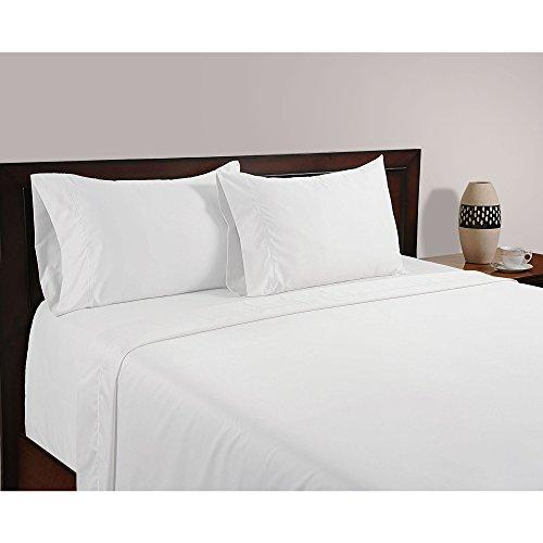 1000 hilos juego de sábanas para cama de 4 piezas sólido (blanco, Reino Unido tamaño Super King 180 x 200 cm – (6 ft x 6 ft 6 in), tamaño de bolsillo 20 cm) 100% de algodón egipcio