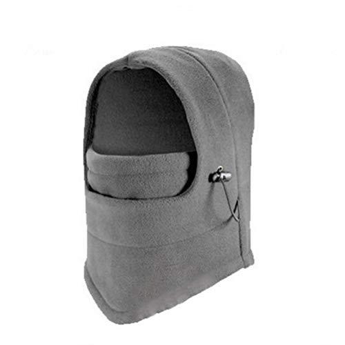 PIBEI Winter Outdoor Mask Hat Integrated Warm Fashion Protective Hat,Winter Balaclava Fleece Hood Ski Mask for Women Men (Shallow ash)