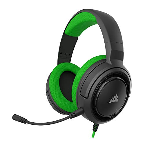 Corsair HS35 - Stereo Gaming Headset - Memory Foam Earcups - Discord Certified- Works with PC, Xbox Series X, Xbox Series S, Xbox One, PS5, PS4, Nintendo Switch, and Mobile - Green