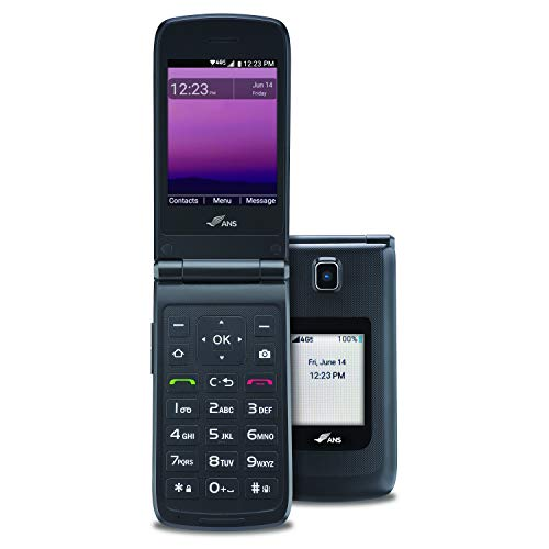 ANS F30 Flip Phone - Basic Cellphone with Built-in Camera & Clear Display -...