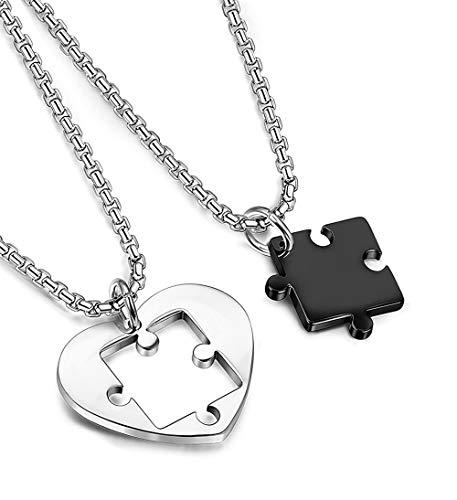 Collana cuore spezzato fidanzati : regalo romantico per la coppia di fidanzati