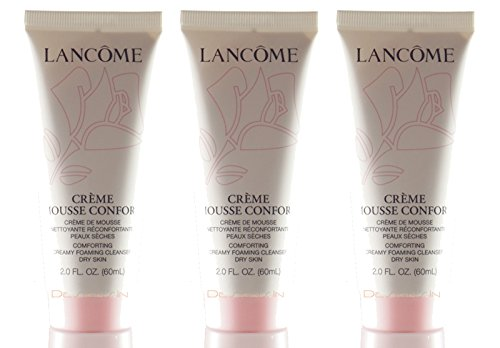 Creme Mousse Confort Comforting Creamy Foaming Cleanser 2 oz/60ml Each (Lot of 3)