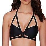 MORCHANMode Femmes Sexy Bandage sous-vêtements Tentation Charme translucide sous-vêtements en Maille vêtements de Nuit(M,Noir)