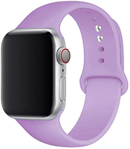 Cinturino in Silicone per Cinturino Apple Watch 5 44 Mm 42 Mm 38 Mm 40 Mm Correa Cinturino Cinturino Cinturino per Iwatch Serie 6 Se 5 4 3 42 44 Mm, Lavanda, 38 O 40 Mm SM