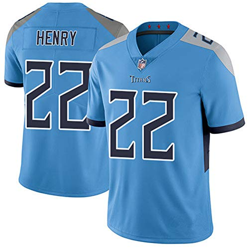 Herren T-Shirt Tennessee American Football Uniform Titans Henry #22 Football Trikots Gruby Tee Shirts Gr. L, Bild