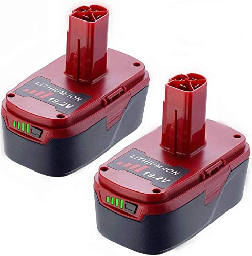 2Pack Upgraded 5.0Ah C3 Lithium Battery Replace for Craftsman 19.2 Volt Battery DieHard C3 XCP 3130211004 130279005 11375 11045 1323903 315.115410 315.11485 315.PP2011 Cordless Battery