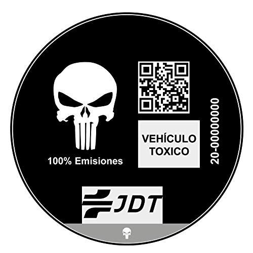 OTHER Vinilo Adhesivo Pegatina Sticker Distintivo Ambiental Coche VEHICULO TOXICO JDT INVERTIDO