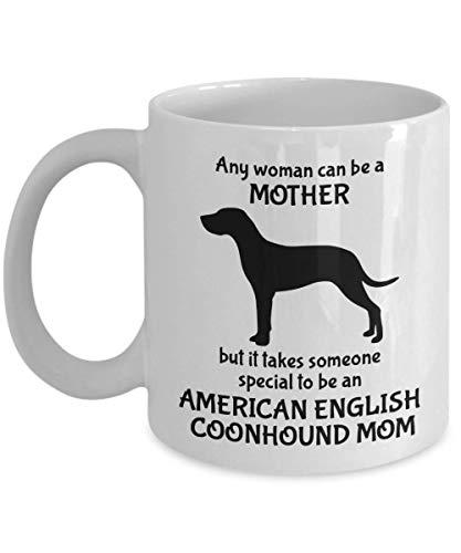 Lawenp Regalos Coonhound inglés americano - Taza mamá Coonhound inglés americano, 11 oz, blanco