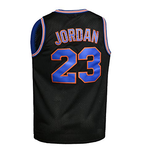 WELETION 23# Space Moive Jersey Mens Basketball Jersey Black Size XLarge