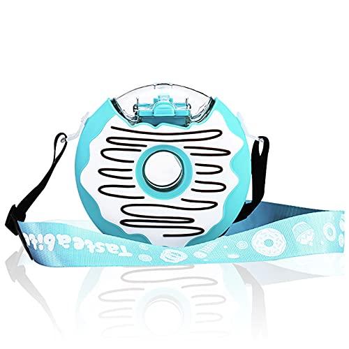 Donut Kids Borraccia da 368,5 ml con tracolla e beccuccio di cannuccia, portatile, per bambini e bambini – BPA Free Durable regalo funzionale per bambini e bambini (blu marino)…