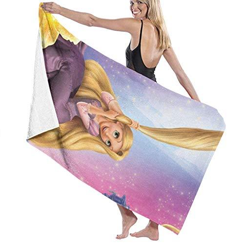 Hdadwy R-apunzel Movie Bath Towels Lujosa Toalla de Fibra 100% extrafina, de Secado rápido, Altamente Absorbente, Tacto Suave, Uso Diario