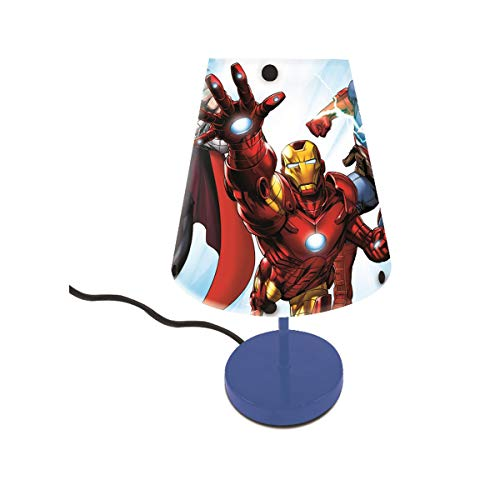 Lexibook LT010AV Avengers Captain America Nachttischlampe, Farbe Dekoratives Licht für Jugendlich mit Marvel Super Heroes