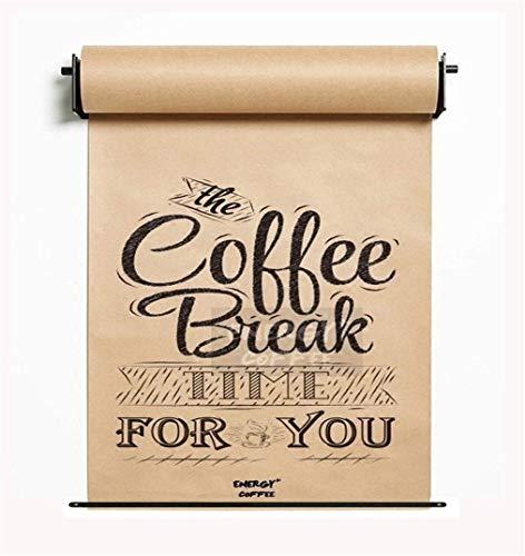 L&WB An Der Wand Befestigter Stilvoller Rollenpapierhalter - Studiorollen-Kraftpapier-Wanddekor - Sitzungsaufzeichnung - Kaffee-Nachtisch-Geschäftspunkt-Preisliste Flipchart,97cm