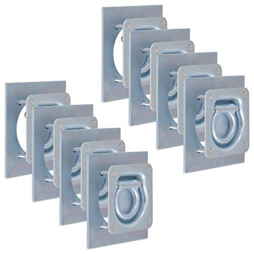 vidaXL 8X Zurrösen für Anhänger Verzinkter Stahl 2000kg Zurrmulden Zurrhaken