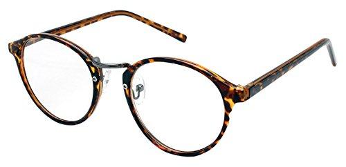 RESA レサ 老眼鏡に見えない 40代からのスマホ老眼鏡 丸メガネタイプ ブラウンデミ RS-09-1 +2.50