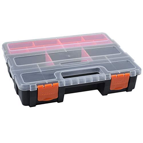 ACAMPTAR F-290 PortáTil Caja De Piezas De Herramientas De PláStico Caja De Almacenamiento De Tornillo Caja De Componentes ElectróNicos Caja De Compartimentos Caja De Material