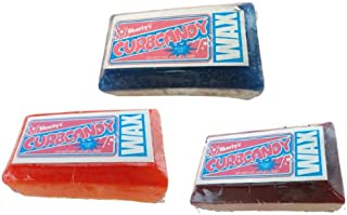 SHORTY'S CURB CANDY SKATEBOARD WAX Skateboards CURB WAX - 3 PIECES - ASSORTED