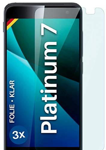 moex Klare Schutzfolie kompatibel mit Vodafone Smart Platinum 7 - Bildschirmfolie kristallklar, HD Bildschirmschutz, dünne Kratzfeste Folie, 3X Stück