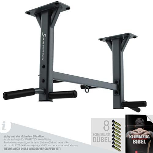 Sportstech 4in1 Klimmzugstange KS400 Deckenmontage, 6 rutschfeste Griffe, extrem stabil, unzählige Pull Up Übungen