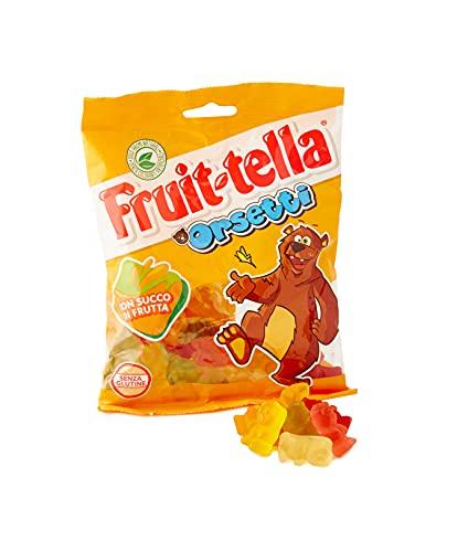 Fruittella Orsetti, Caramelle Gommose, Gusto Frutti Assortiti Con Succo Di Frutta, Senza Glutine, Formato Busta Da 175 G