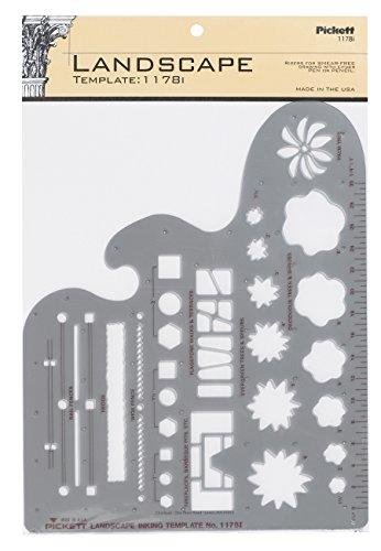 Pickett Landscape Template, 1/4 Inch Scale (1178I)