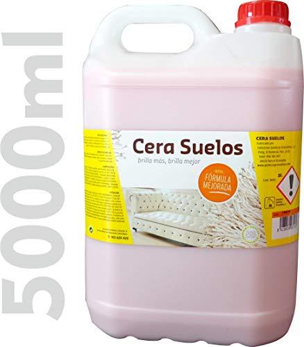 IQG Cera Suelos ABRILLANTADOR, limpeza de Suelos, Mantiene Las Superficies limpias, protegidas y nutridas. Ideal para Suelos laminados, parquet, Madera, marmol, Granito y terrazo. (5 L)