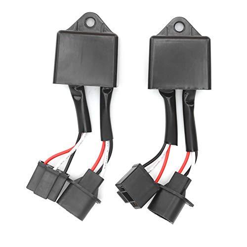 Decodificador de faros LED para coche, Fydun 2 uds Decodificador de luz LED, filtro HID, adaptador H13 a H4, vida útil de 10000H para advertencia de faros LED