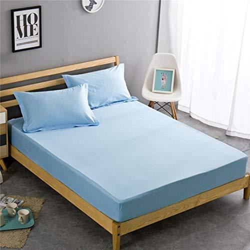 CTOBB 1 st. 100 % polyester högkvalitativ reaktiv färgad tjock tyg sängduk med fyra hörn elastisk finns i en mängd olika storlekar, Lanse, 180 cm x 200 cm x 26 cm