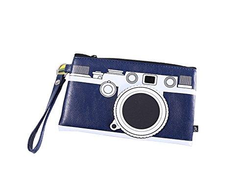 Demarkt–Retro Lápiz bolsa cámara Forma estuche–Soporte para papel creativo Cockapoo Rojo 19 * 11.5CM azul