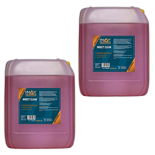 INOX® Insektenreiniger Insektenentferner Konzentrat, 2 x 5L - Reiniger für die Fahrzeugpflege