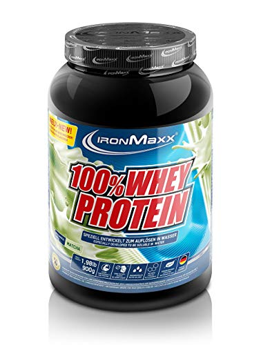 IronMaxx 100% Whey Protein - Dose - Matcha, 1er Pack(1 x 900 grams)