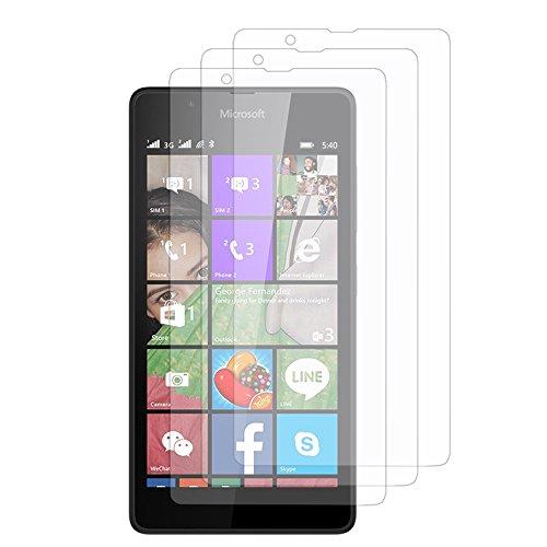 VComp-Shop® 3x Transparente Bildschirmschutzfolie für Microsoft Lumia 540 Dual SIM - TRANSPARENT