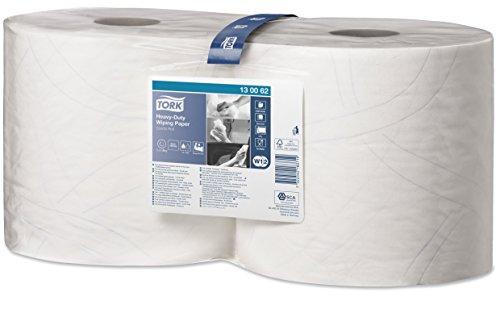 SCA Tork 130062 Extra Starke Mehrzweck Papierwischtücher, Weiß (2-er Pack) 2 x 170 m