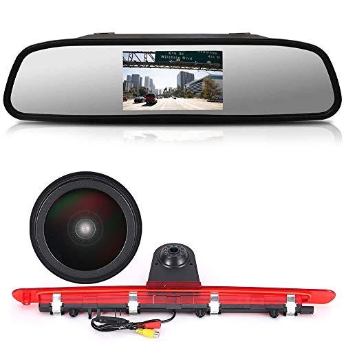 Auto Dritte Dachmontage Bremslicht Rückfahrkamera +4.3 Zoll LCD Rückspiegel Wasserdicht Einparkkamera für Mercedes Benz Vito W447 Kasten Tourer V260 Mixto 3 Brake Light lamp ab 2014