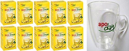 Apoday Heisse Zitrone plus gratis Teeglas 10er Packung