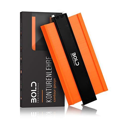 BOLD Professional - Konturenlehre mit Feststeller 25cm [Einführungsangebot] - überarbeitetes Modell 2021 - Einfache Bedienung - Präzises Übertragen von Formen